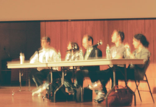 Luckily I'm a better drawer than photographer. Fred and company at SIGGRAPH panel.