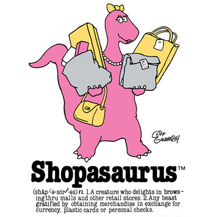 The Shopasaurus, popular 80's icon that has faded into the past.